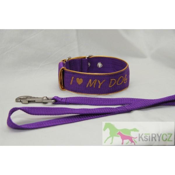 Obojek I love my dog 4cm
